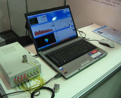 Результаты работы обрабатывались на ноутбуке с помощью программ из состава ZETLab.