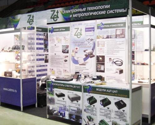 Для удобства посетителей выставки основные характеристики модулей АЦП-ЦАП и анализаторов спектра были представлены на плакатах