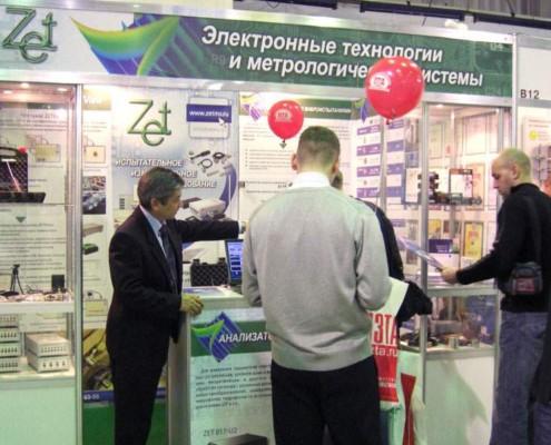 Для демонстрации работы программного обеспечения ZETLab на выставке проводились различные измерения с помощью анализатора спектра.