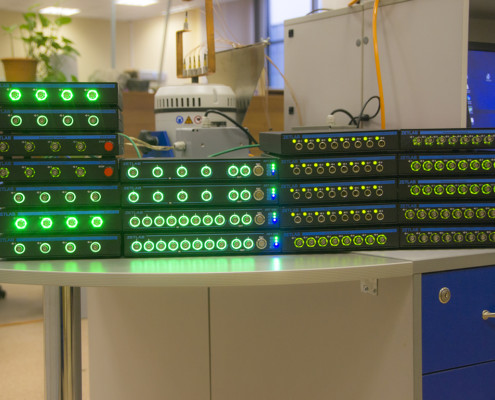 System with 132 measurement channels - light indication