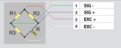 Четвертьмостовая схема подключения