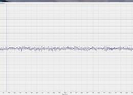 Осциллограмма собственных шумов ZET 7156 в режиме измерения виброперемещения снятая при помощи программы Многоканальный осциллограф из состава ПО ZETLAB
