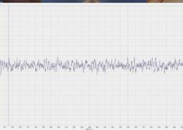 Осциллограмма собственных шумов ZET 7156 в режиме измерения виброскорости снятая при помощи программы Многоканальный осциллограф из состава ПО ZETLAB