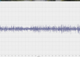 Осциллограмма собственных шумов ZET 7156 в режиме измерения виброускорения снятая при помощи программы Многоканальный осциллограф из состава ПО ZETLAB