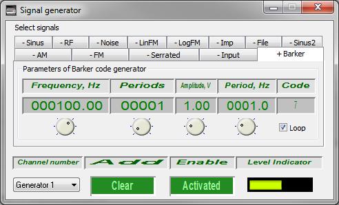 Signal generator - Barker code signal generation - 1