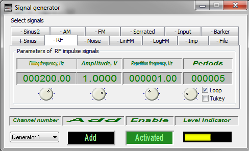 Signal generator - Radio pulse signal - 1