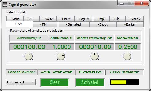 Signal generator - amplitude-modulated signal