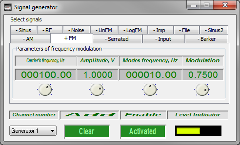 Signal generator - frequency - modulated signal - 1