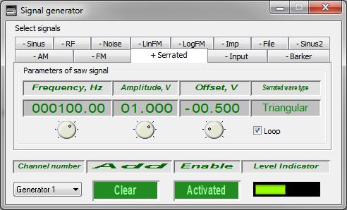 Signal generator - saw-tooth signal - 1