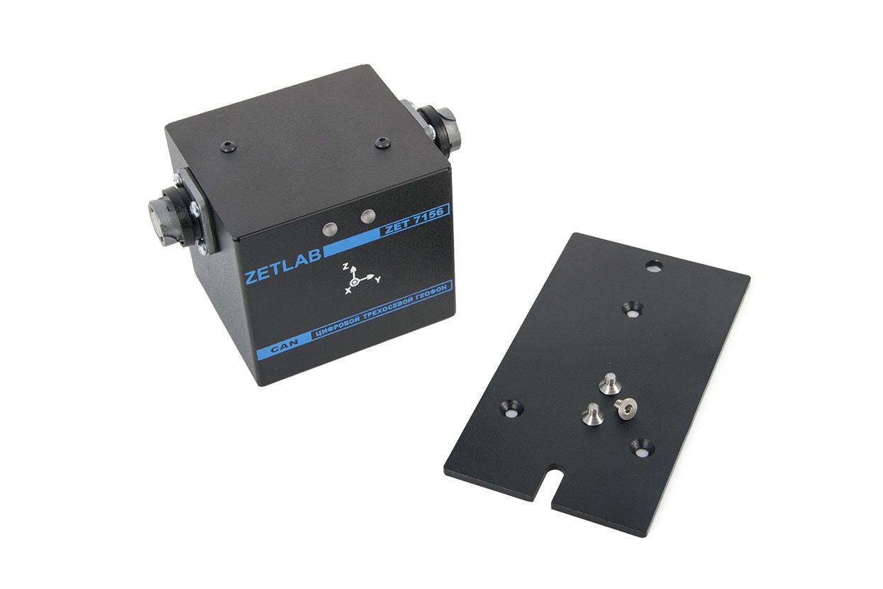 Цифровой сесмометр ZET 7156 в комплекте с монтажной пластиной