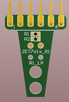 Переходник для подключения кабеля CLM к модулям ZETSENSOR в лабораторном исполнении