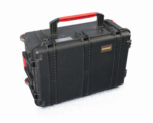 Suitcase for a seismic survey kit