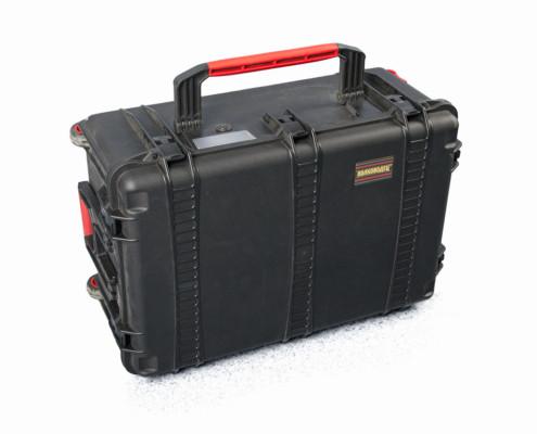 Suitcase for a seismic survey kit