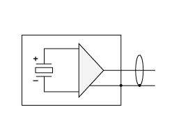 Electrical diagram of the accelerometer BC 110