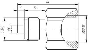 Переходник M20.1.5-G 3.8