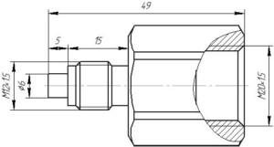 Переходник M20.1.5-M12.1.5