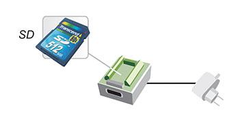 Autonomous recorder and flash drive