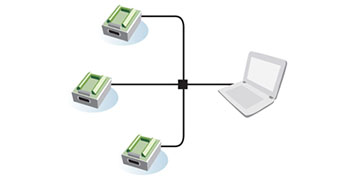 Multichannel distributed data collection system
