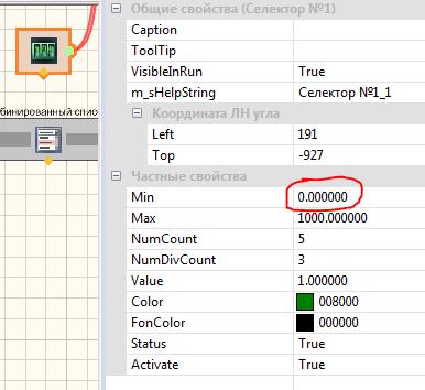 настройка частных свойств арифметических операторов ZET View ( отображение значения с измерительного канала)