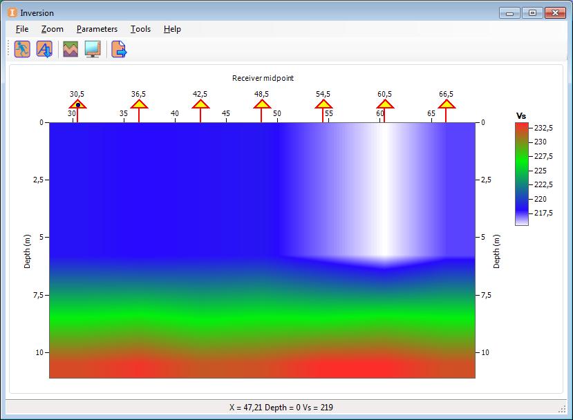 обработанные данные в программе RadExpro