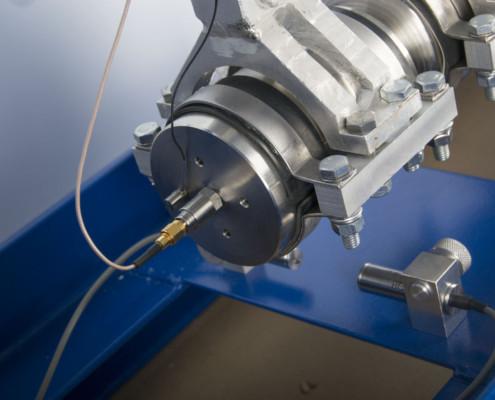 UDAR-1 - Shock testing machine - transducer mounting