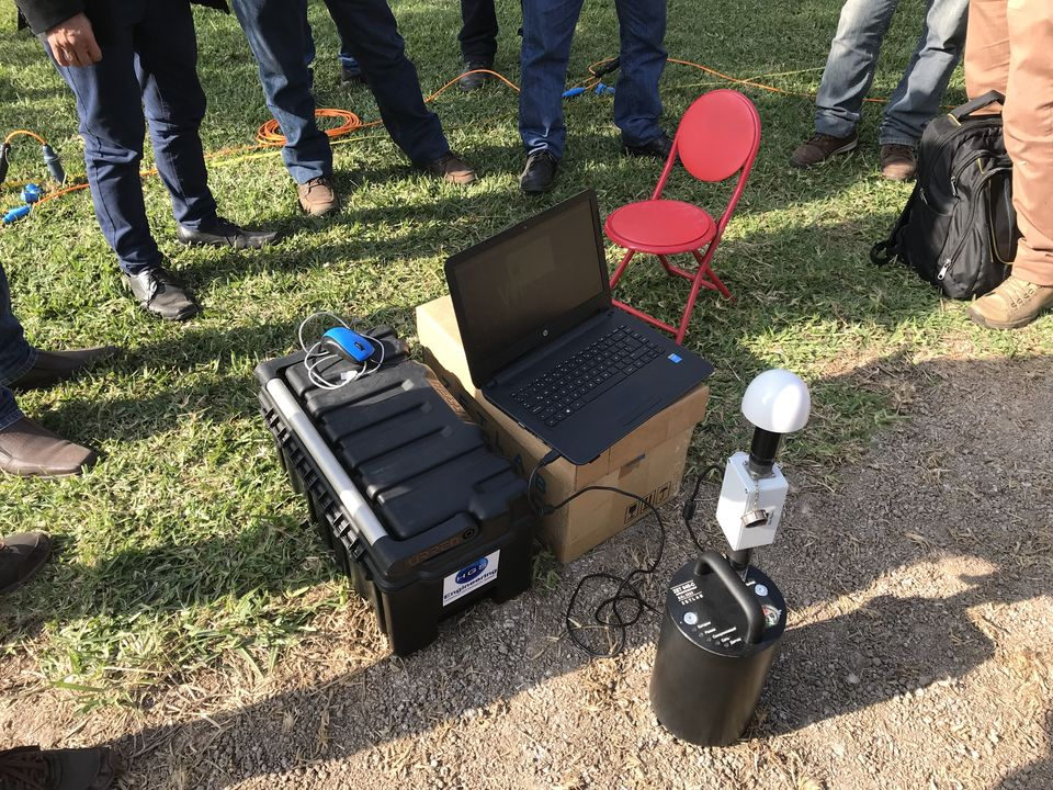 Демонстрация сейсморегистратора в Перу