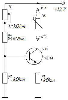Transistor power supply module - electrical diagram