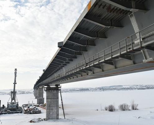 Bridge over Kama river - main