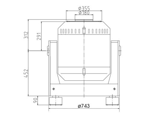 Габаритные размеры TV 55240LS-180