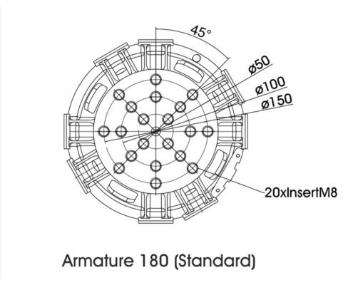 Габаритные размеры 56263LS-180 арматура