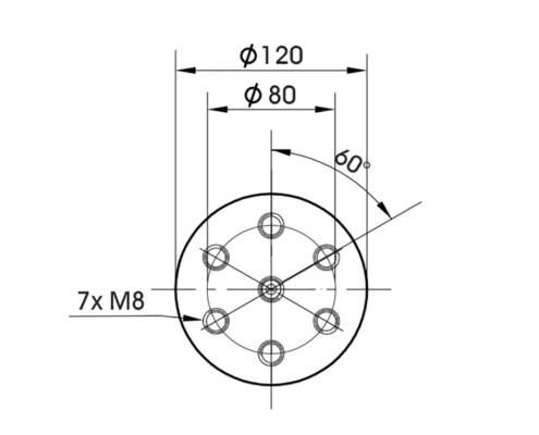 Габаритные размеры TV 50350LS-120 арматура