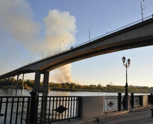 Voroshilovskiy bridge in Rostov-on-Don - overview