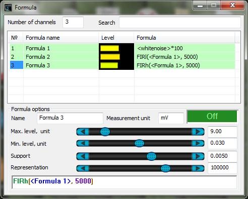 ZETLAB Formula - Filters - whitenoise - FIRI - FIRh