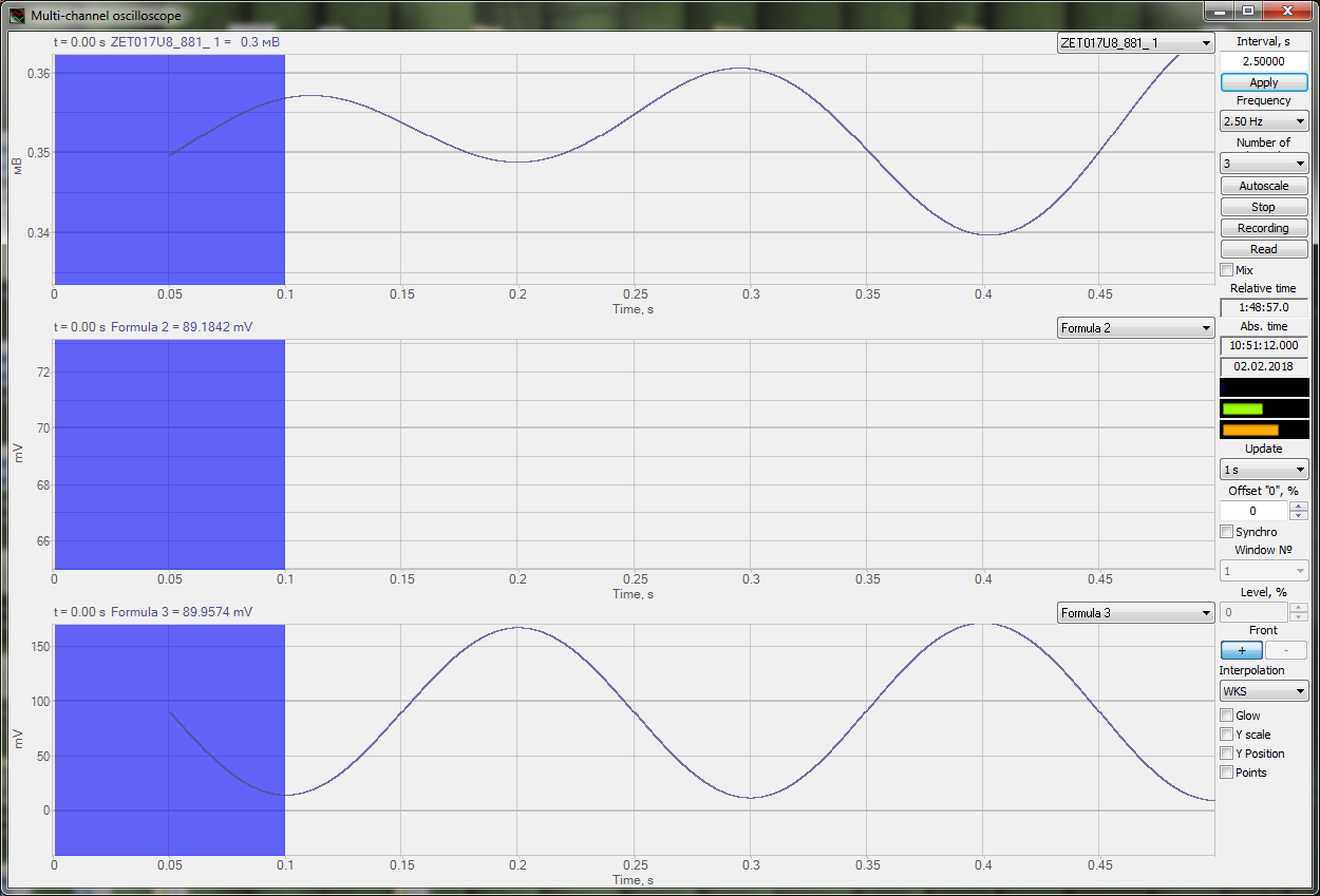 ZETLAB Formula-Measurement functions-Trigen-IncRise-IncFall-Signals overlapping