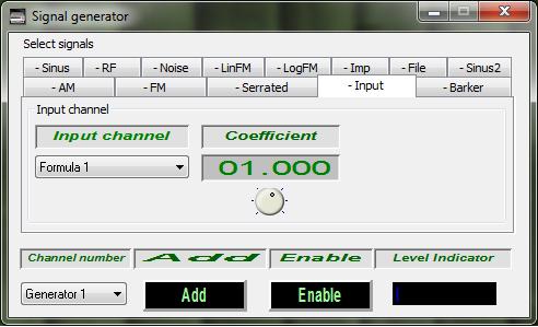 ZETLAB Formula -Operations - Signals generator