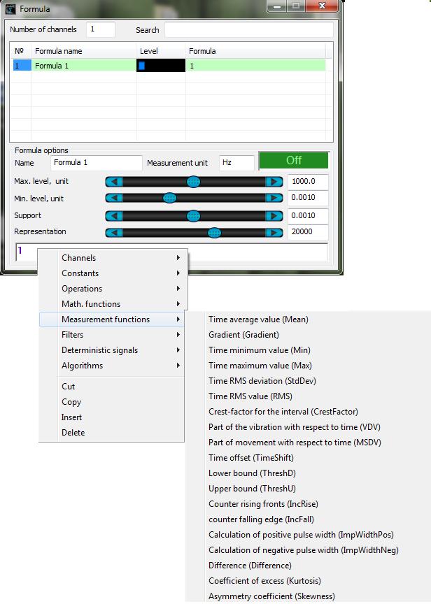 ZETLAB Formula_Measurement functions_context menu