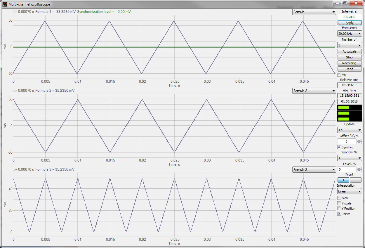 ZETLAB Formula_Operations_multichannel oscilloscope