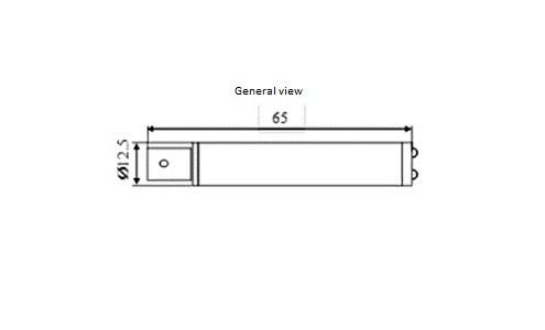 RPM sensor ZET 401 - dimensions