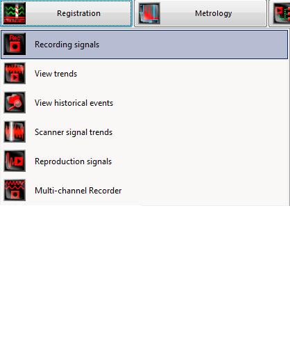 El programa de grabación de señales