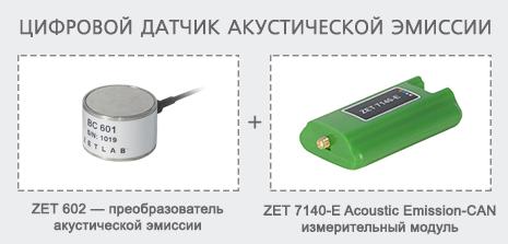 Цифровой датчик акустической эмиссии на базе ZET 602
