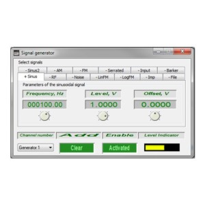 Generador de señales sinusoidal