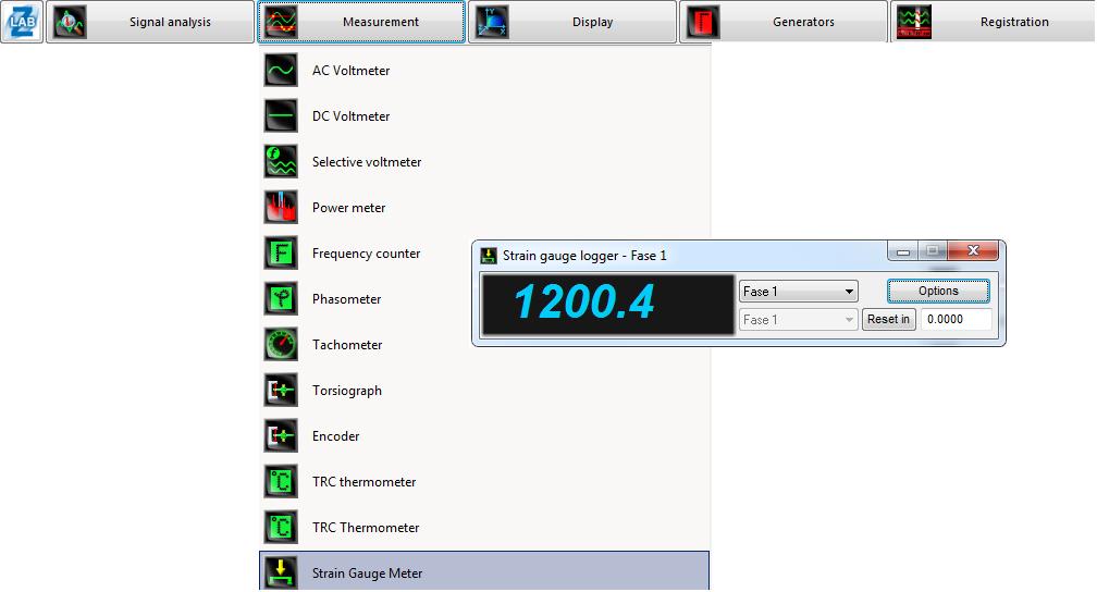 Measurement module for strain gauges (Data acquisition module (DAC) ZET 017-T16 - Strain gauge meter program - ZETLAB Software