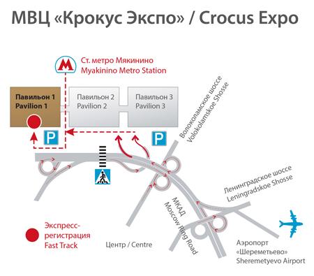 План проезда на выставку