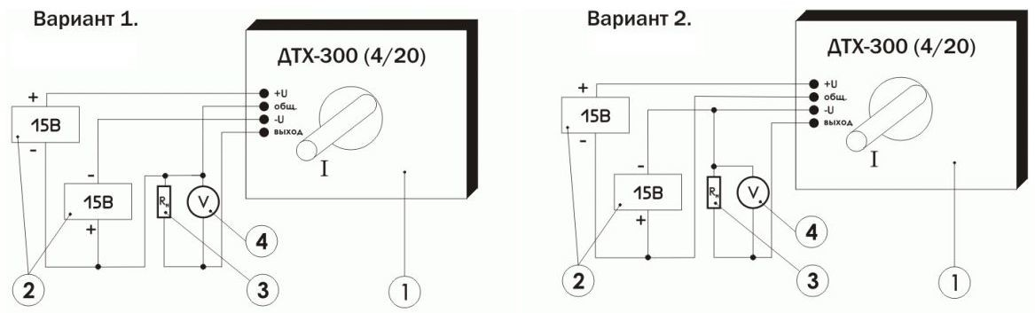 Схема включения преобразователя измерительного ПИТ-300-У-4/20-Б40