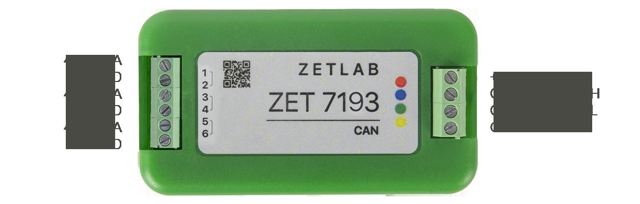 Назначение разъемов ZET 7193