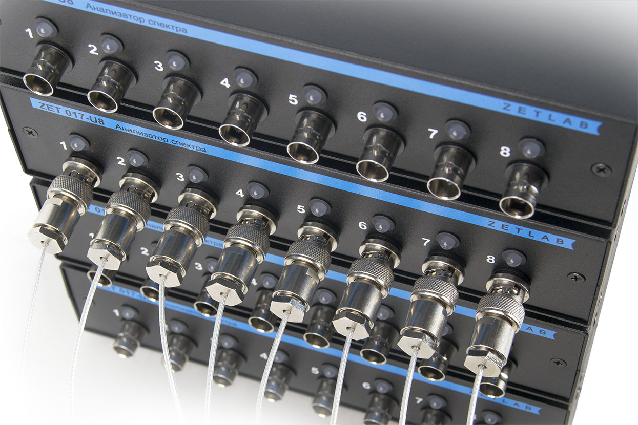 ZET 017-U32 - connection ports of the front panel