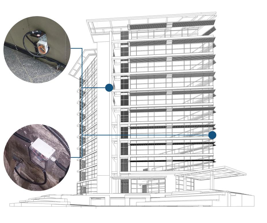 Мониторинг крена здания и смещения элементов