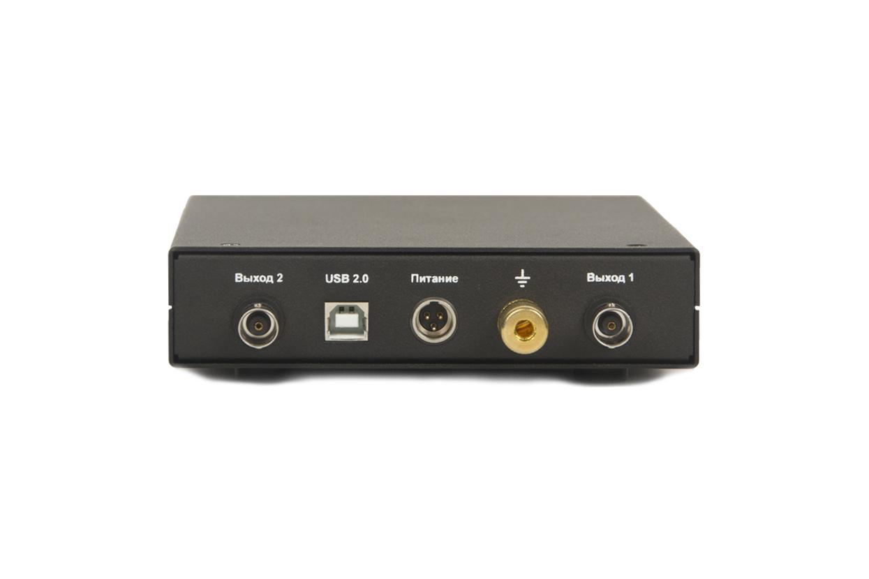 Strain-gauge amplifier ZET 052 - rear panel - outputs - power supply connection