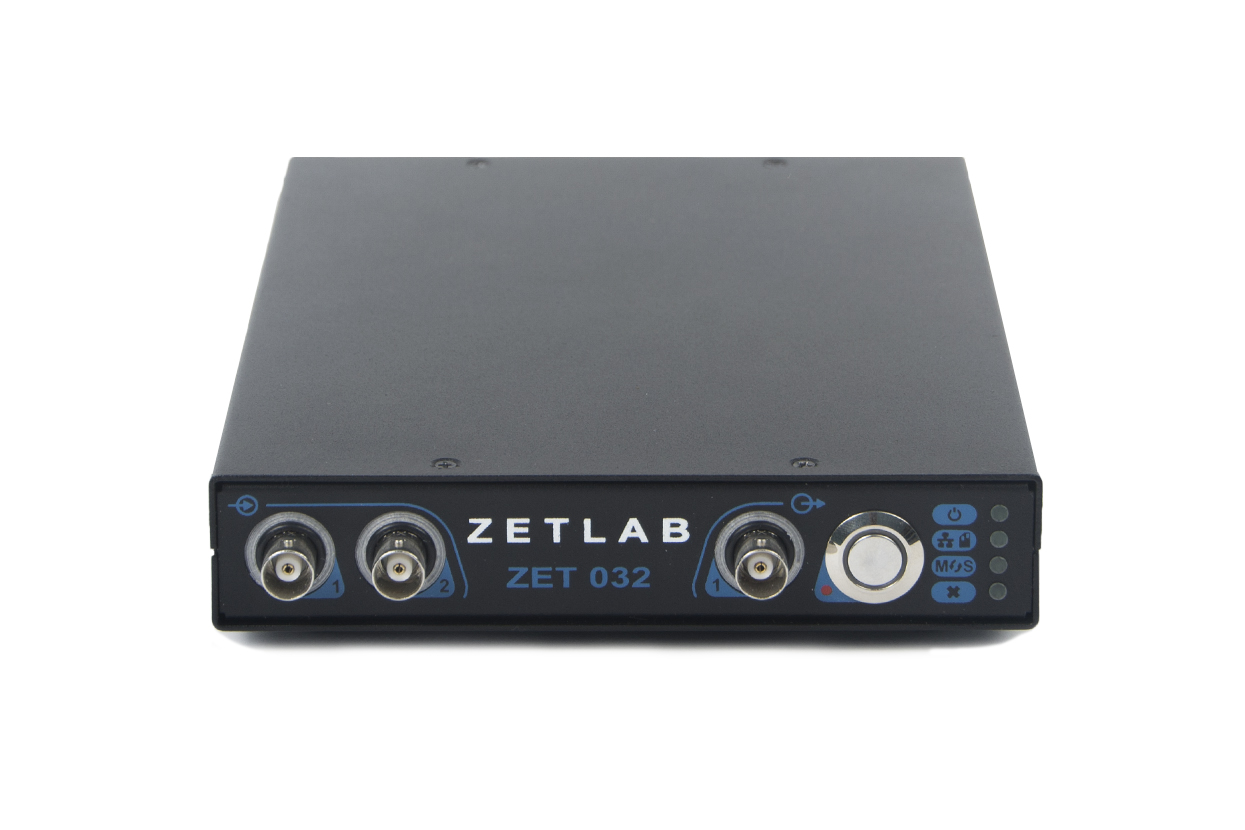 ZET 032 FFT Spectrum analyzer - interface of the front panel - control elements