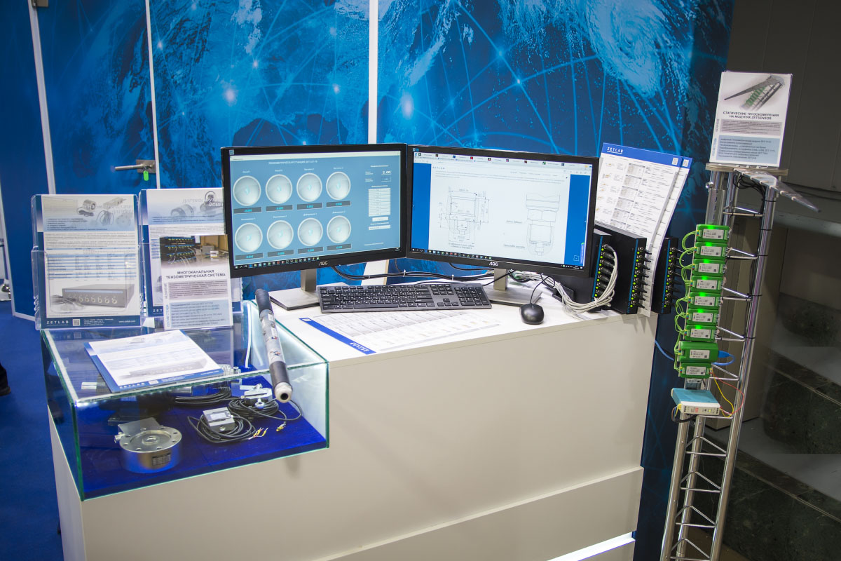 Exhibition stand of the strain gauge measurement system